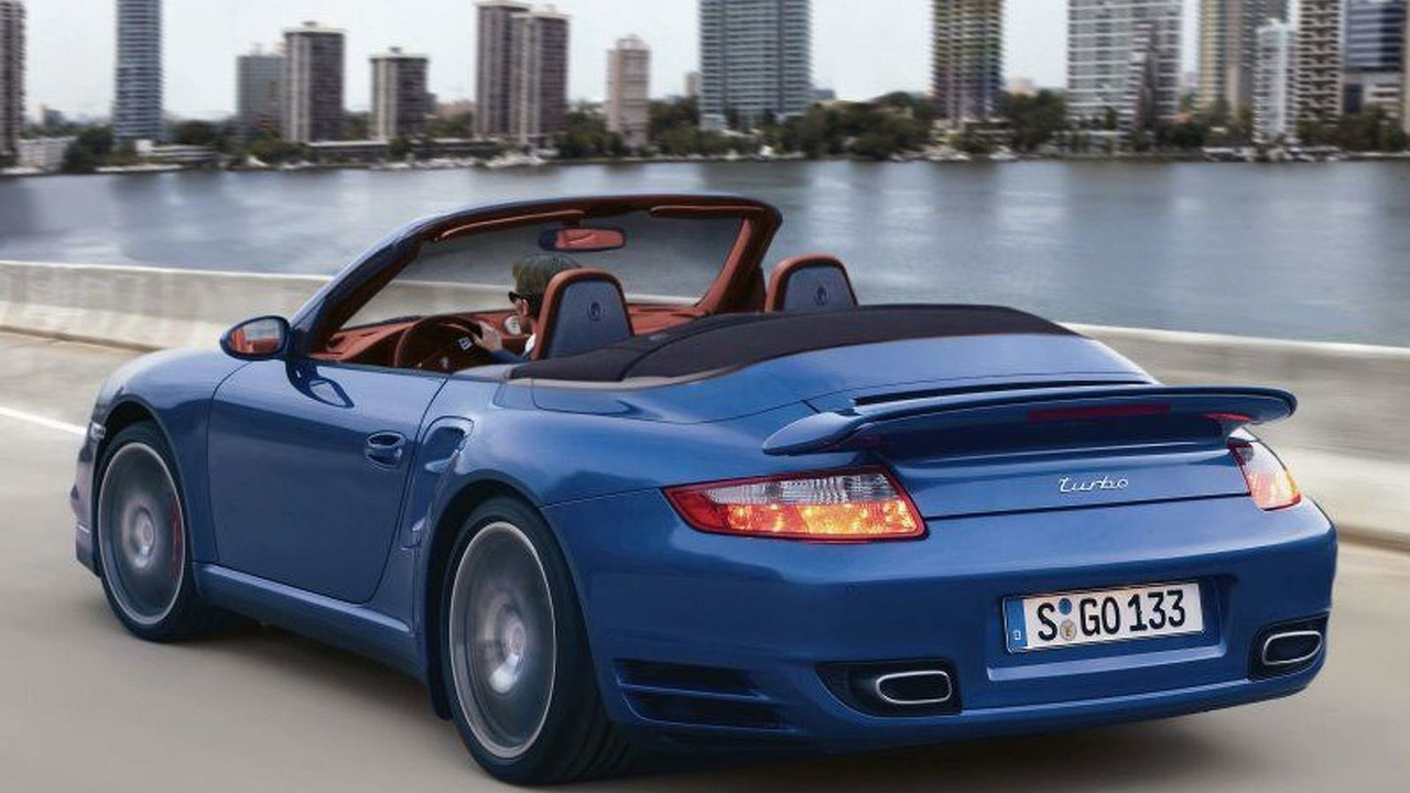 New Porsche 911 Turbo Cabrio computer illustration