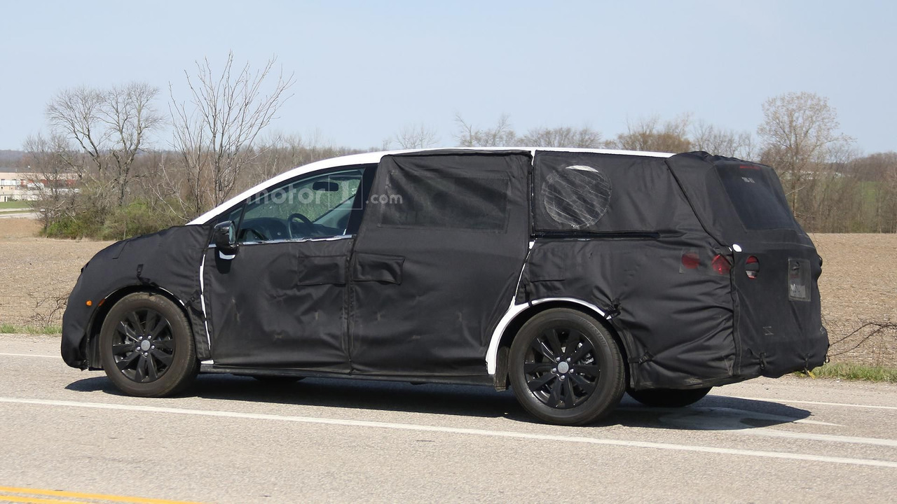 2017 honda odyssey spied testing in ohio. Black Bedroom Furniture Sets. Home Design Ideas