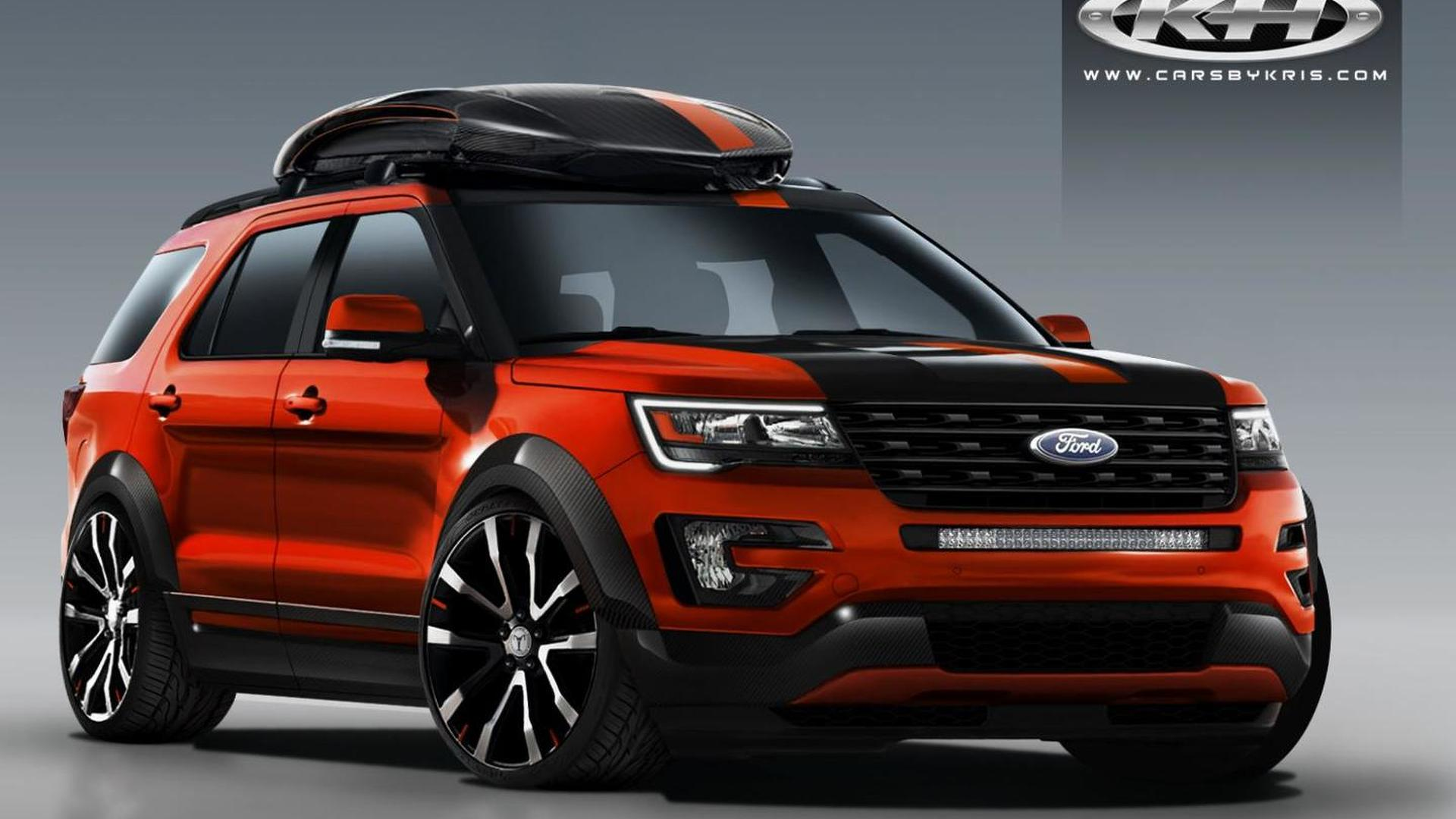 Ford teases four modified Explorers for SEMA