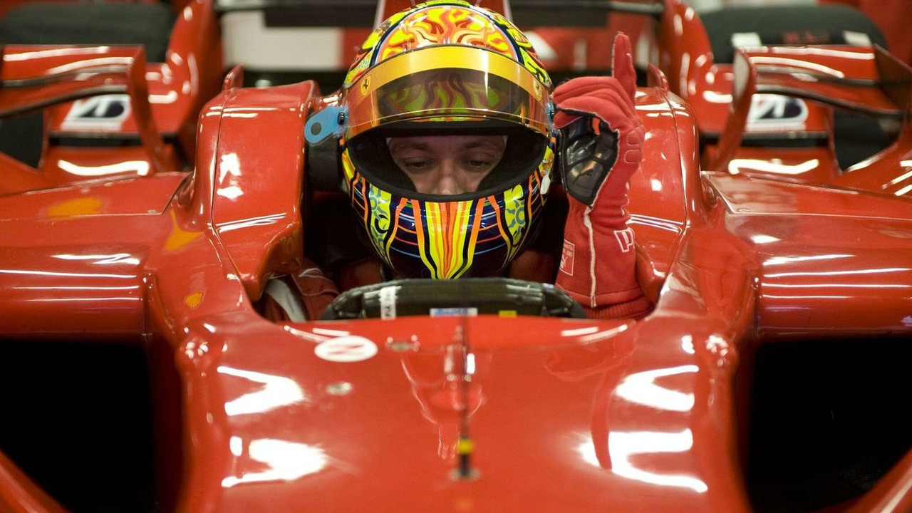 Valentino Rossi test 2008-spec Ferrari single seater, Barcelona, Spain, 20.01.2010