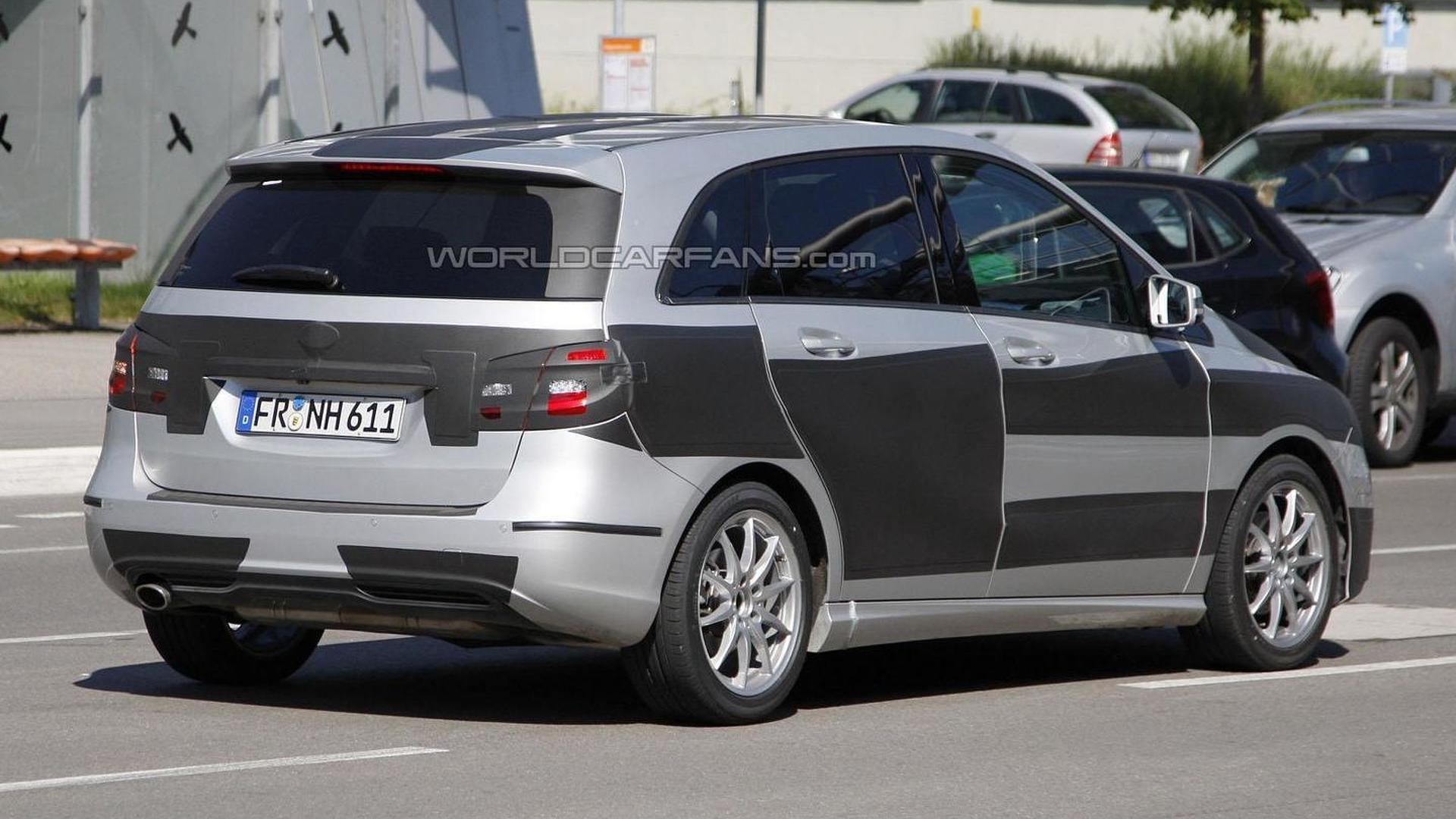 2012 Mercedes B-Class spied wearing less camouflage