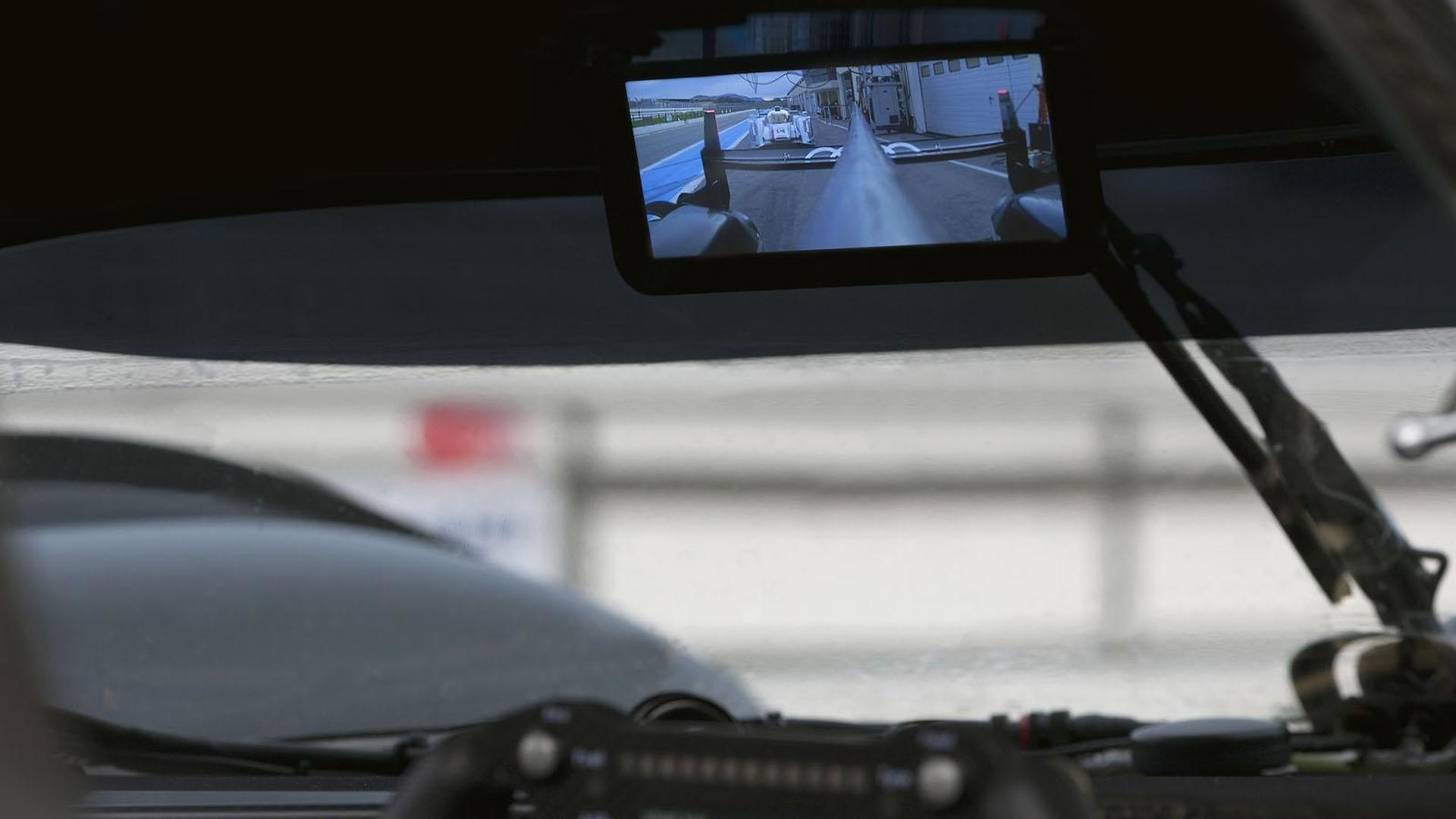 Audi shows off digital rear-view mirror