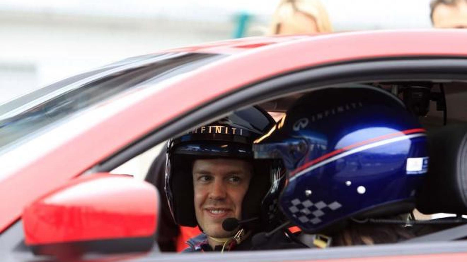Sebastian Vettel to drive New Jersey F1 circuit in an Infiniti IPL G coupe