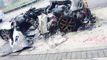 Audi R8 V10 destroyed by fire in London
