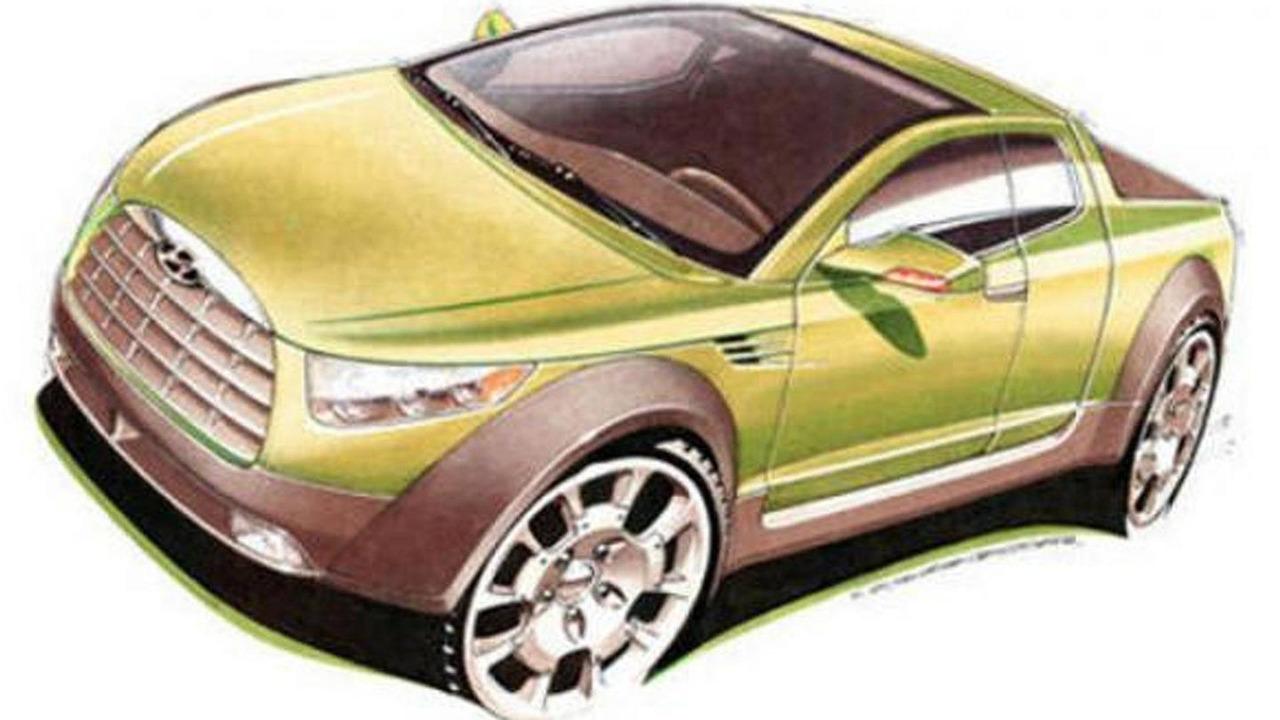 Hyundai pickup speculative illustration 2006