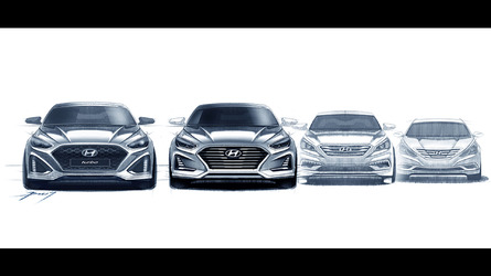 Hyundai Sonata facelift previewed in design sketches