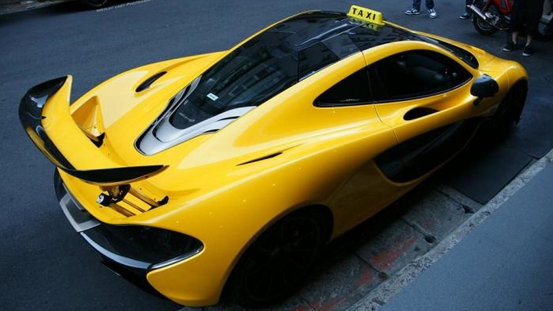 McLaren P1 gets taxi sign in Taiwan