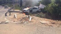 Mercedes-Benz A45 AMG Edition 1 driver escapes fiery crash