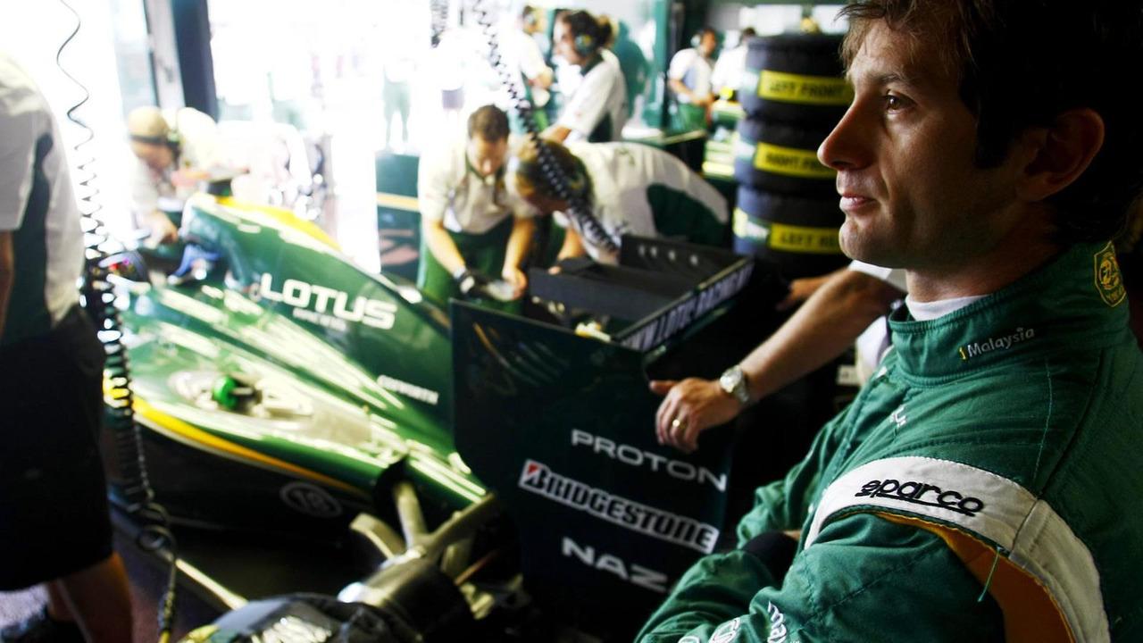 Jarno Trulli during Thursday practice at the Monaco Grand Prix