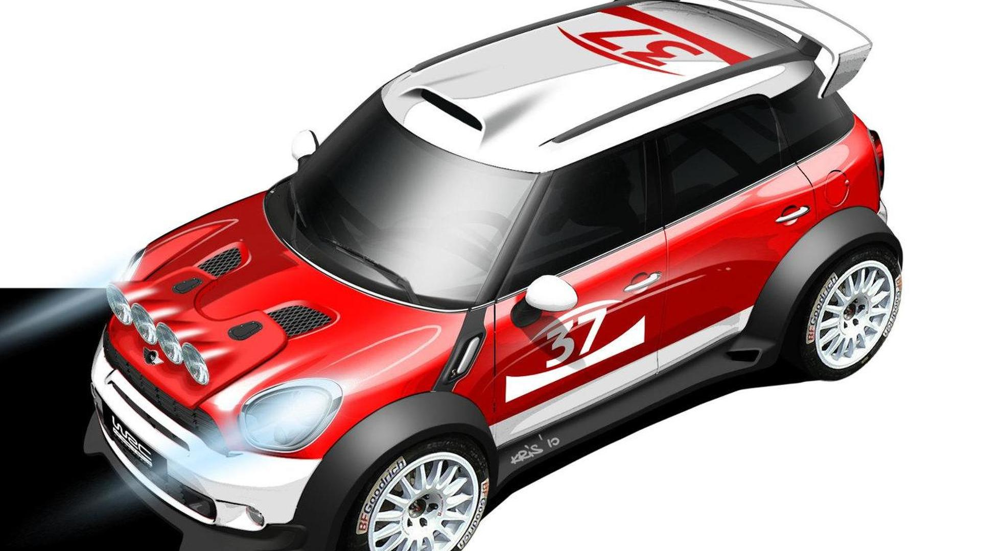 MINI to enter World Rally Championship in 2011; Countryman WRC sketch released