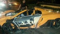 Brand new McLaren 650S Spider crashed during test drive in Singapore