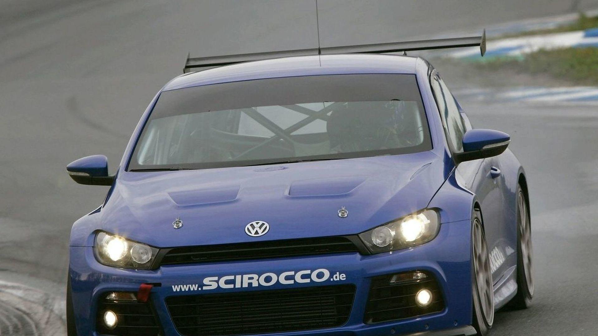 Stuck and Sainz in Volkswagen Scirocco on the Nordschleife