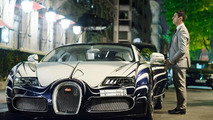 Bugatti Veyron L'Or Blanc on the streets of Paris 17.04.2012