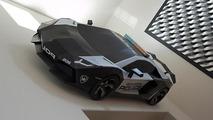 Lamborghini Aventador Police Car Cardboard Model looks like the real thing [video]