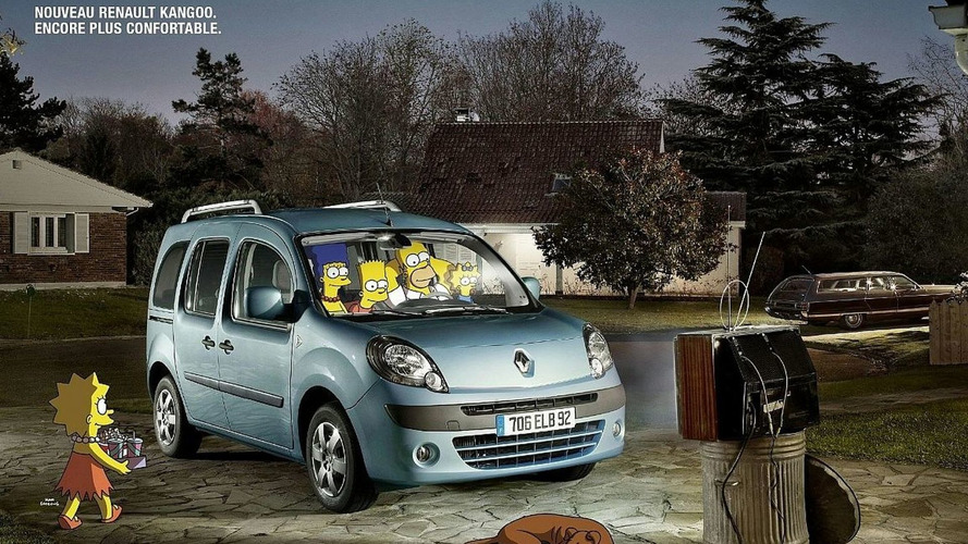 New Renault Kangoo Ad Campaign with The Simpsons
