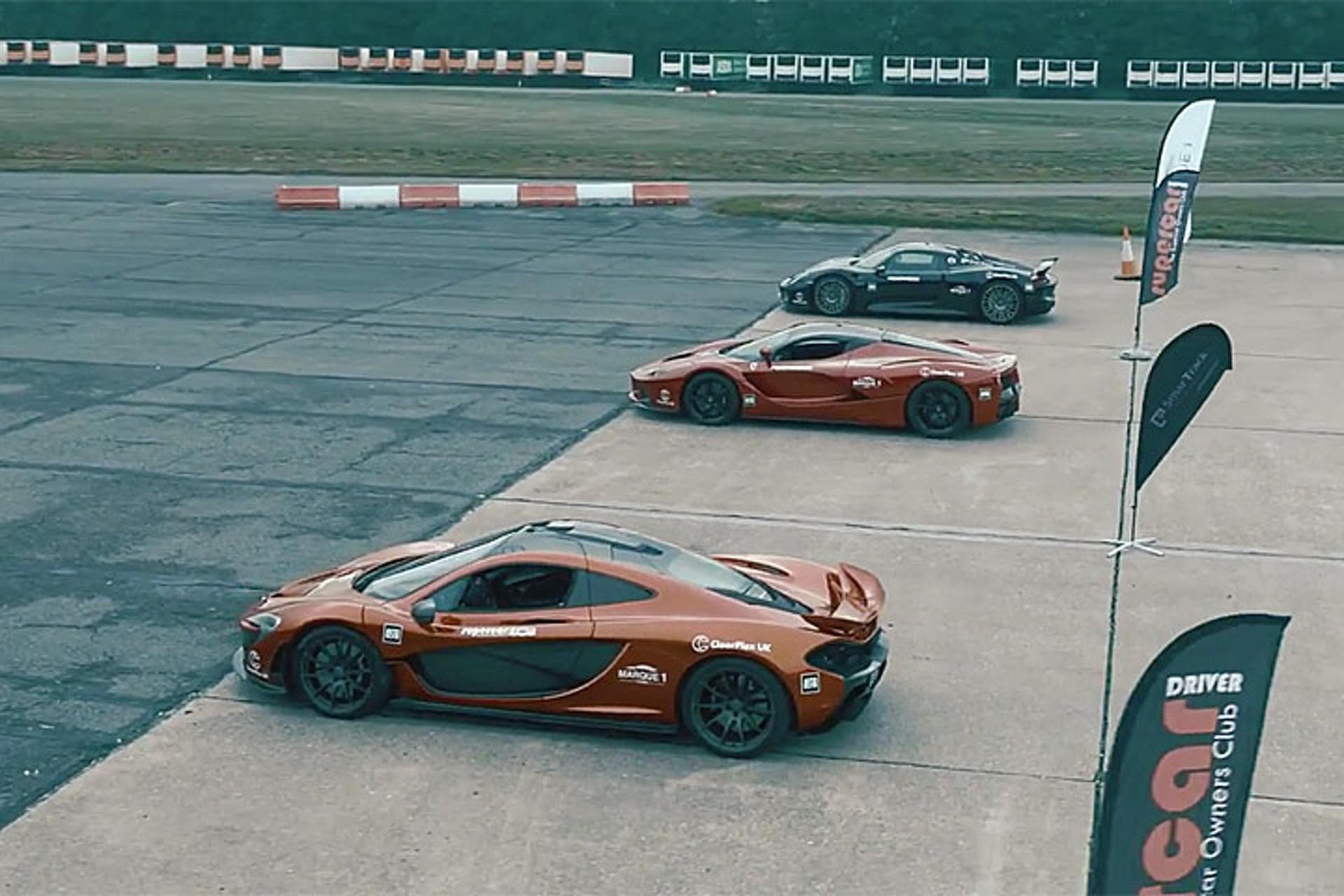 Which is Fastest to 186 mph? LaFerrari vs. 918 Spyder vs. P1