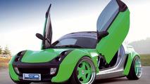 LSD Wing Doors for smart Roadster and Mercedes SLK