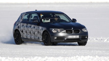 New three-door BMW 1-series spied testing