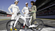 Smart ebike with Michael Schumacher and Nico Rosberg 02.3.2012