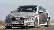 2014 Hyundai Genesis spied wearing less camo