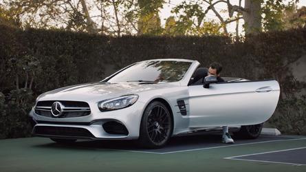Roger Federer stars in humorous tennis videos for the 2017 Mercedes SL