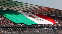 The Mexican flag in the main grandstand