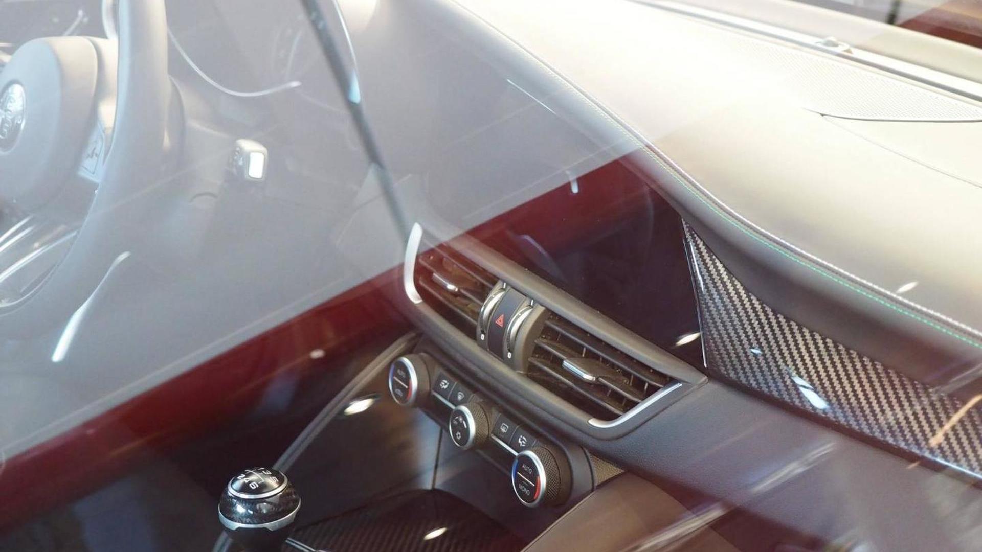 Alfa Romeo Giulia interior partly revealed in unofficial photos
