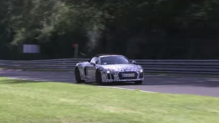 2017 Audi R8 Spyder spied on the Nürburgring [video]