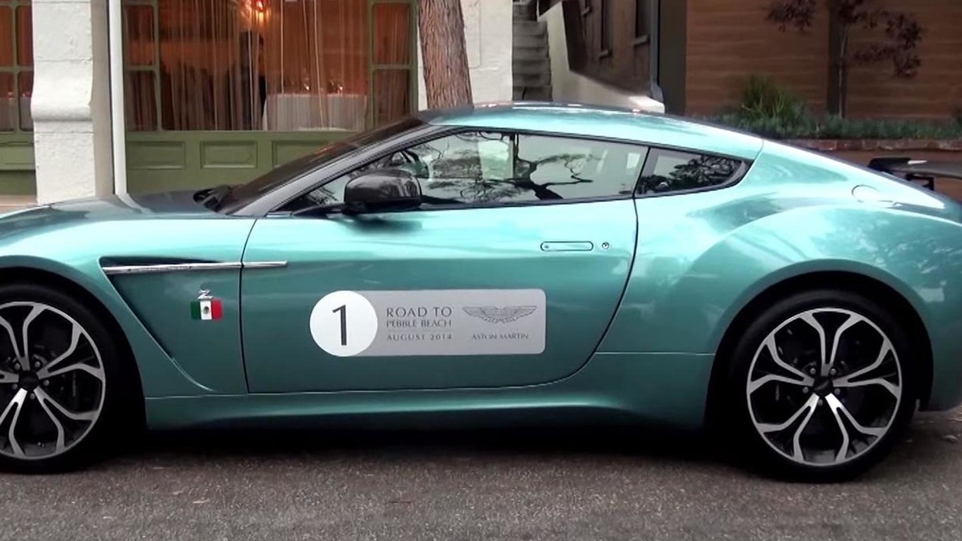 Rare Aston Martin V12 Zagato painted in Alba Blue filmed up close