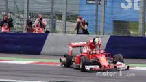 Sebastian Vettel, Ferrari SF16-H retired from the race when his rear tyre exploded