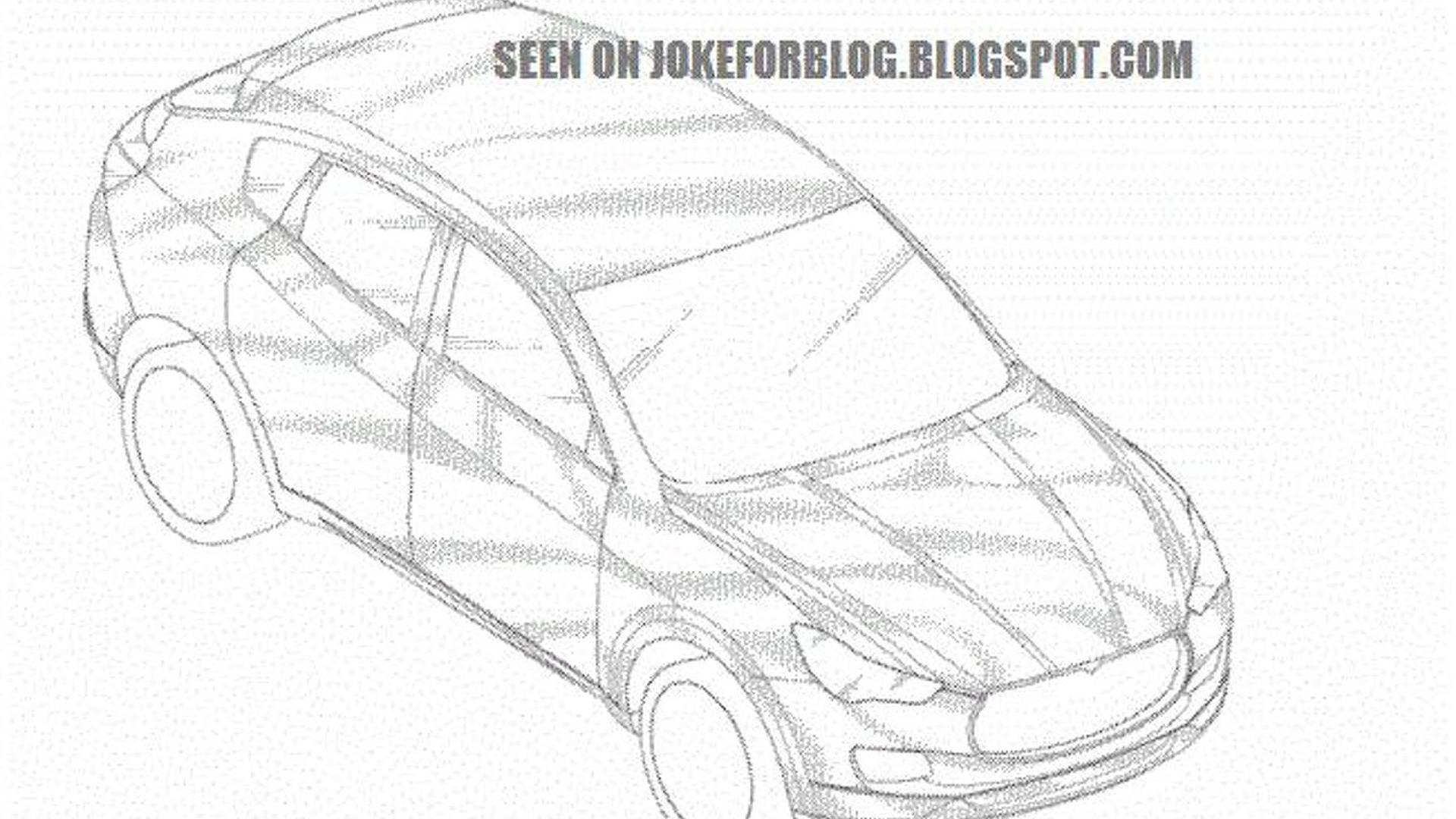 2014 Maserati Levante allegedly revealed in patent drawing