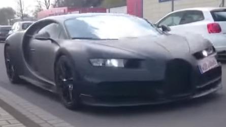 Bugatti Chiron spied testing with Veyron, Porsche 918 Spyder, Lambo Huracan [video]