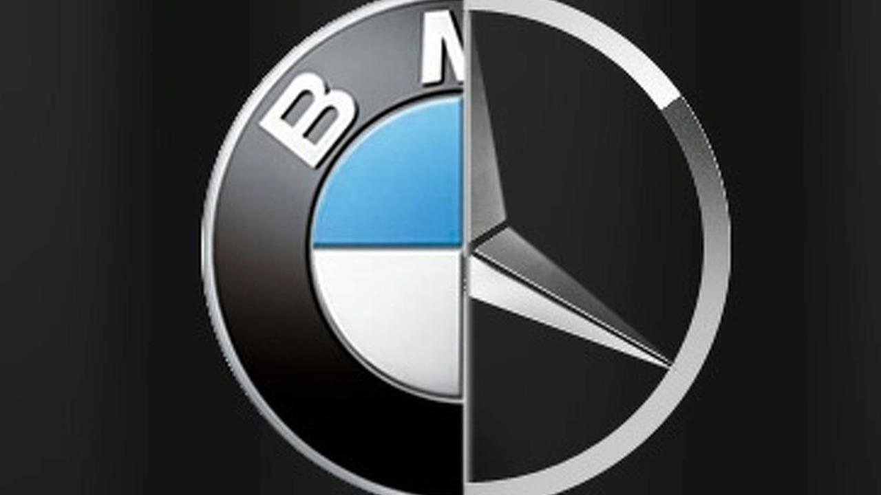 BMW & Mercedes Logos Merged