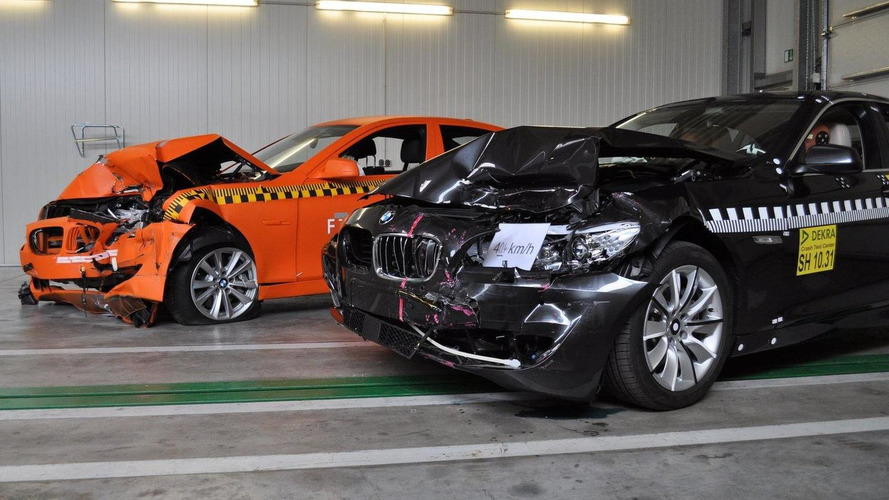 New BMW 5 Series passes first crash test using brake intervention
