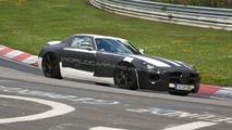 Mercedes SLS AMG Gullwing spy photo at Nurburgring