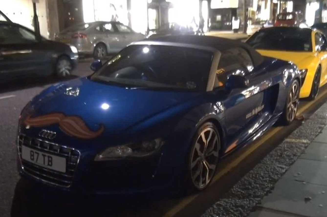 Mustached Supercars Romp About London in Honor of Movember
