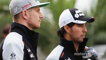 Nico Hulkenberg, Sahara Force India F1 and Sergio Perez, Sahara Force India F1