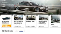 BMW 720i pops up on the company's German website, disappears immediately