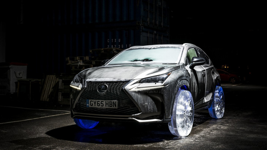 Lexus creates cool NX with ice wheels [videos]
