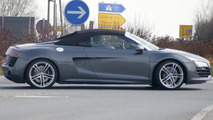 2013 Audi R8 Spyder facelift spy photo