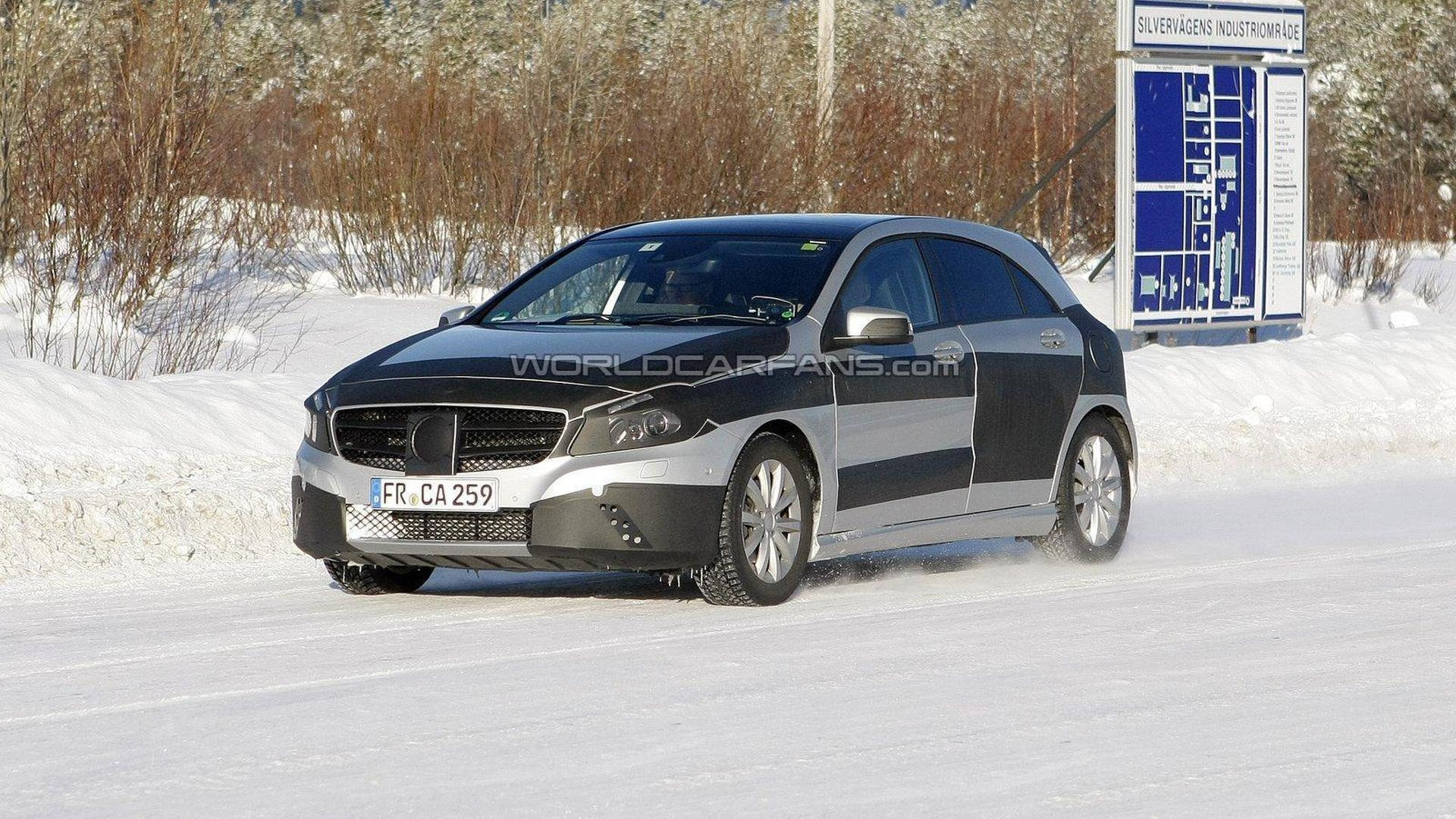 2013 Mercedes-Benz A-Class spied almost uncovered