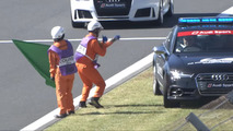 Race marshal funky dancing video gets Audi pace car's attention
