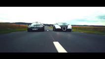 When two very different supercars meet: McLaren F1 and Bugatti Veyron