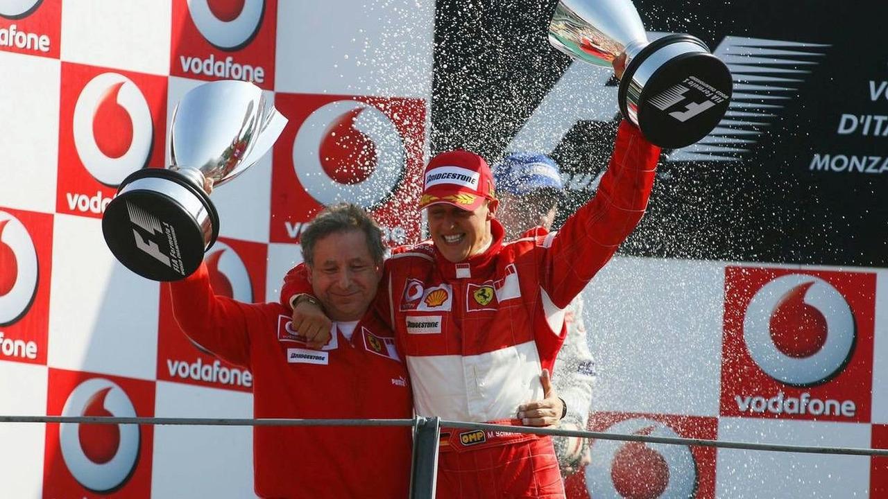 Michael Schumacher (GER), Scuderia Ferrari and Jean Todt (FRA), Scuderia Ferrari, Team chief, General Manager, Team Principal, Italian Grand Prix, Sunday Podium, Monza, Italy, 10.09.2006