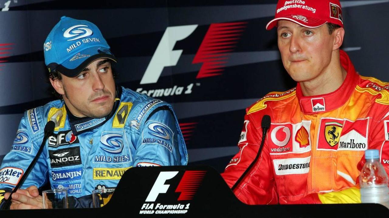 Michael Schumacher & Fernando Alonso, 2006 Monaco Grand Prix press conference