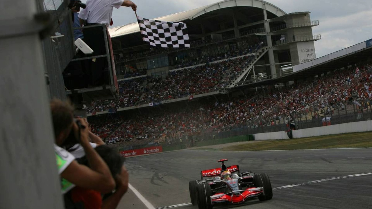 Lewis Hamilton (GBR), Winner, McLaren Mercedes, MP4-23, German Grand Prix, Hockenheim, Germany, 20.07.2008
