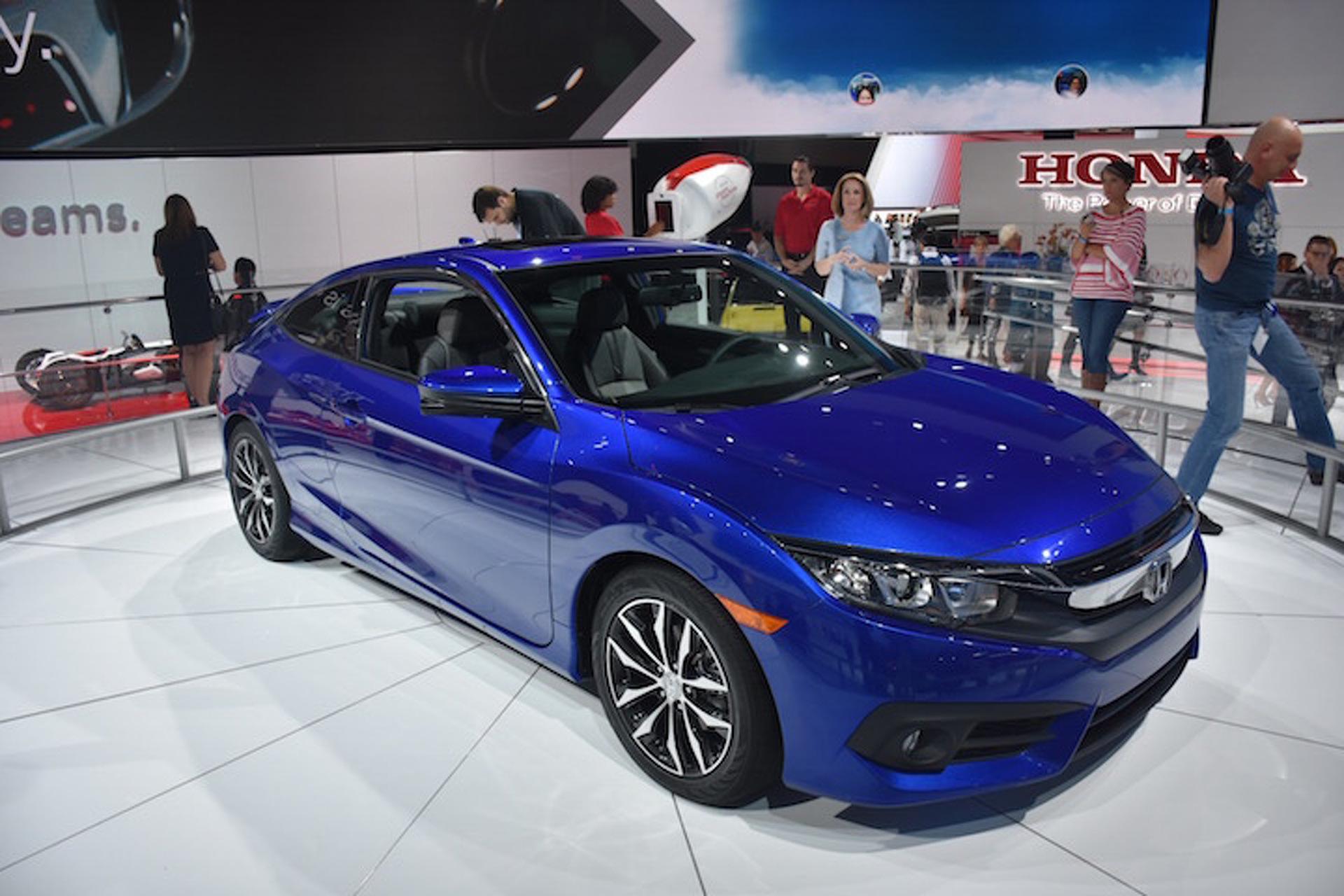 Honda Civic Coupe Bows in Blue at LA Auto Show