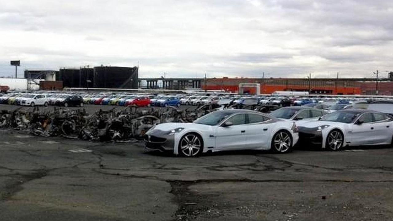 Fisker Karmas burned at New Jersey port 31.10.2012