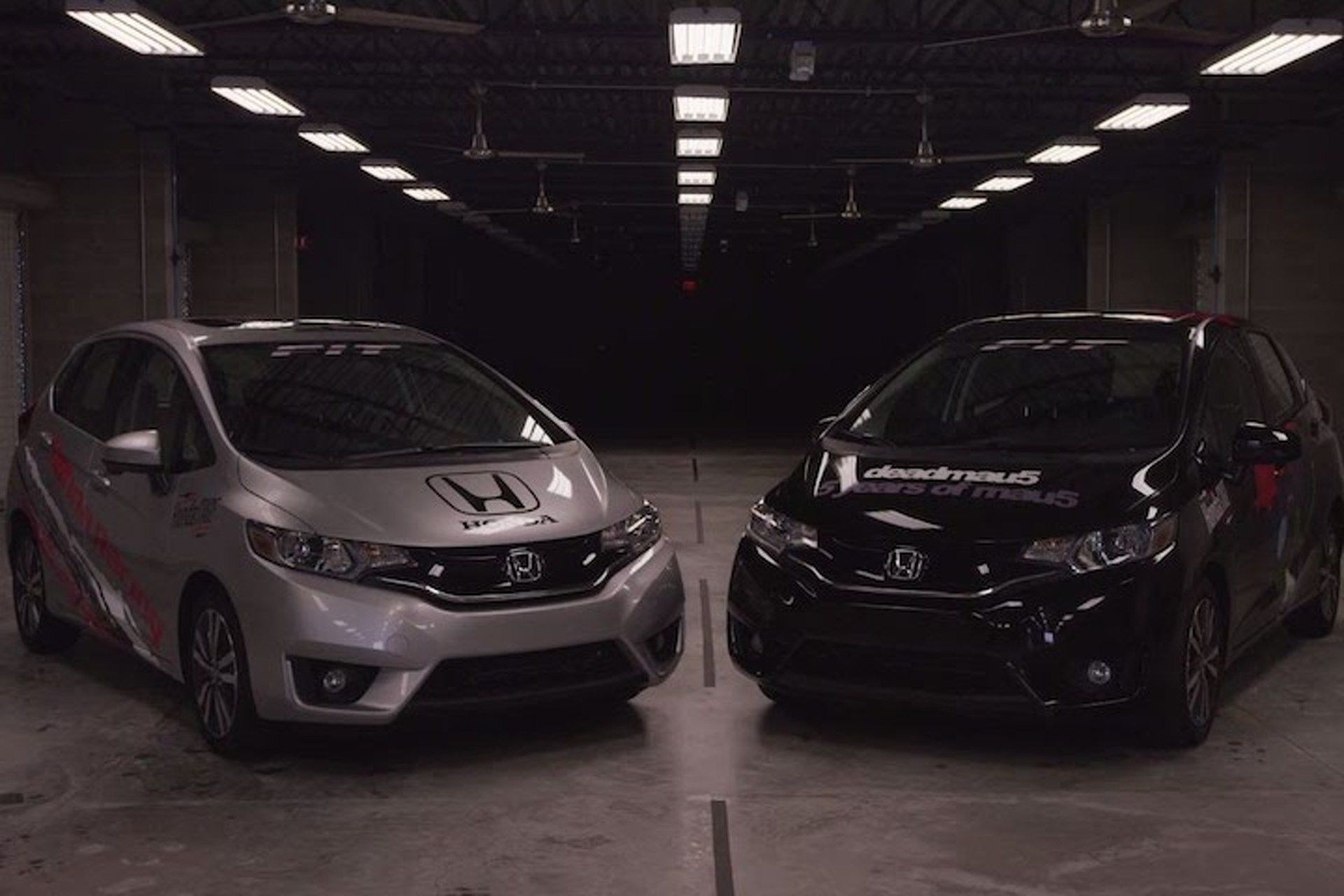 Watch DeadMau5 Race an IndyCar Driver in an Epic Honda Fit Battle