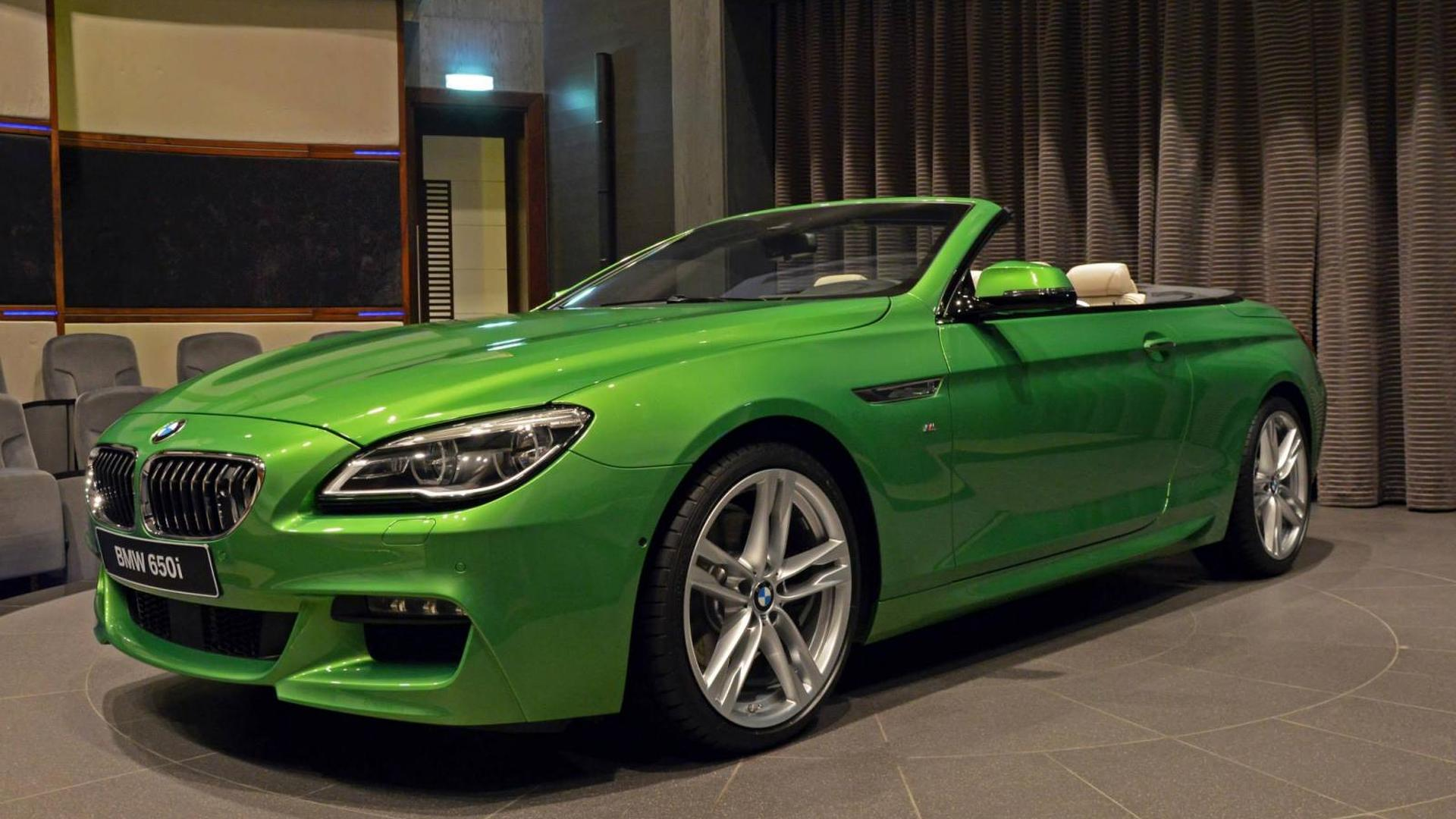 BMW Abu Dhabi showcases Java Green 650i Convertible